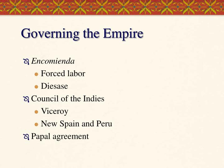 Governing the Empire