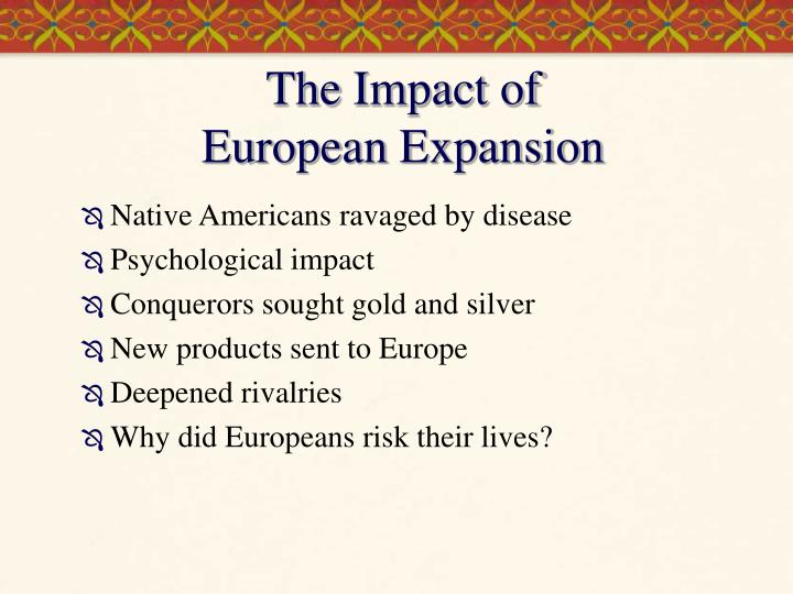why did europeans expand into america Because they don't practice slavery like europeans did in america why did africans sell africans into why did africans help sell other africans to.