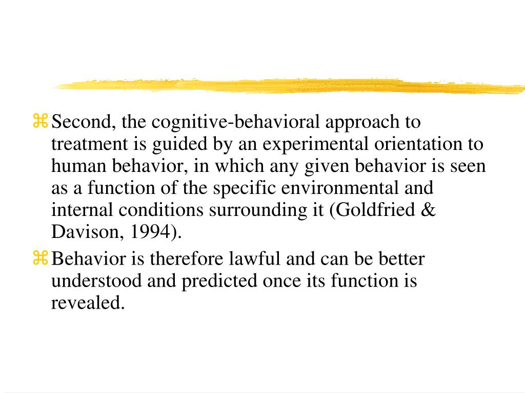Cognitive Behavioral Therapy - Psychologist World