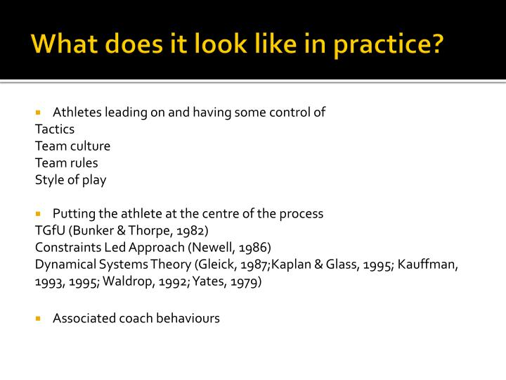 What does it look like in practice?