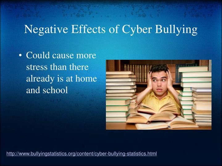 effects of bullying As bullying gains more awareness from the general public, it's also gained momentum among researchers more studies are beginning to confirm the sometimes serious psychological effects of bullying, particularly for the bullied, like increased risk for depression and anxiety others have hinted at.