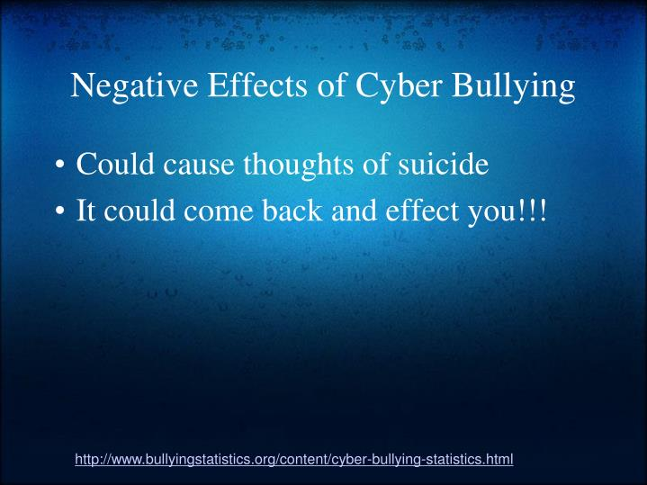 the causes and effects of cyberbullying