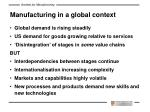 manufacturing in a global context
