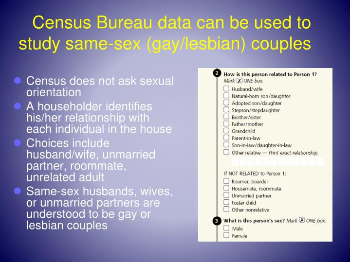 Census Bureau data can be used to study same-sex ...
