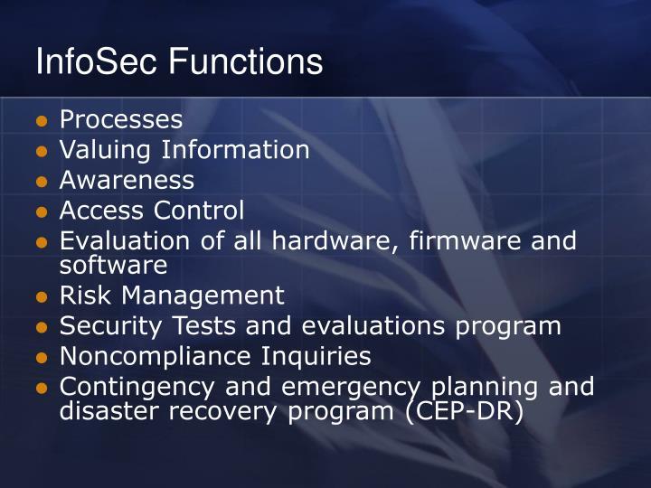 InfoSec Functions