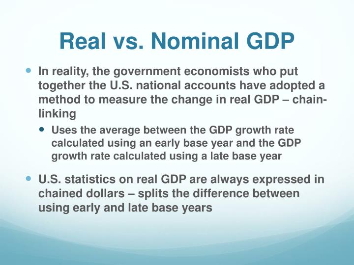 what is the difference between real and nominal gdp