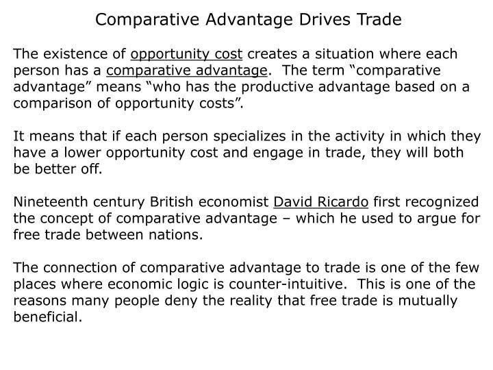 Comparative Advantage Drives Trade