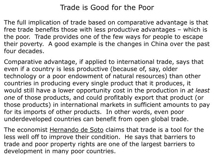 Trade is Good for the Poor