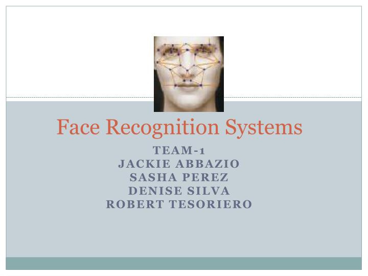 face recognition systems n.