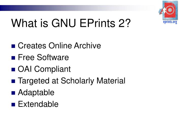 what is gnu eprints 2 n.