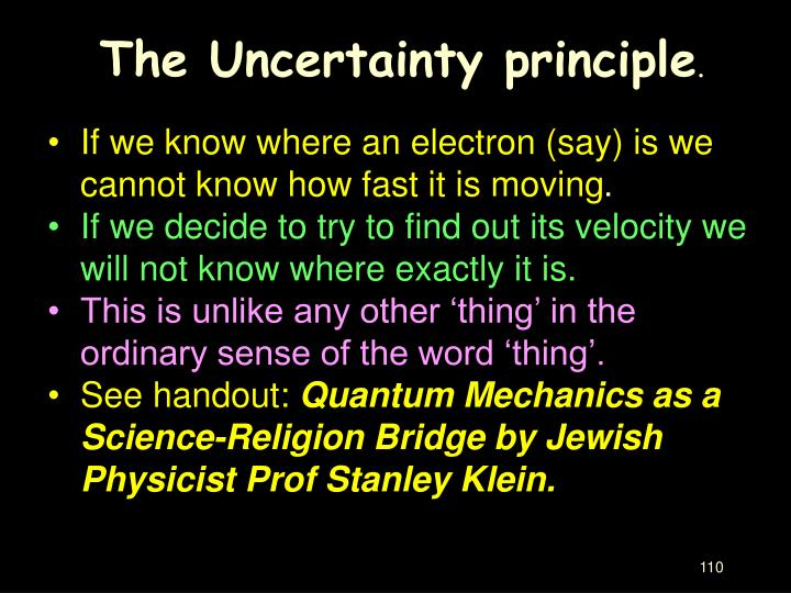 The Uncertainty principle