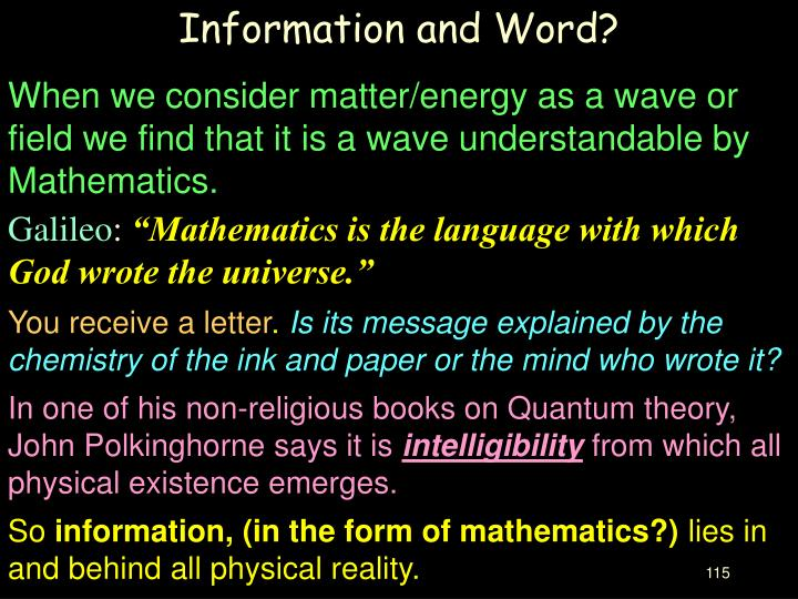 Information and Word?