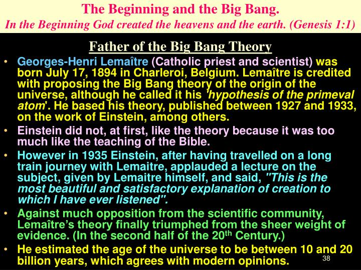 Father of the Big Bang Theory