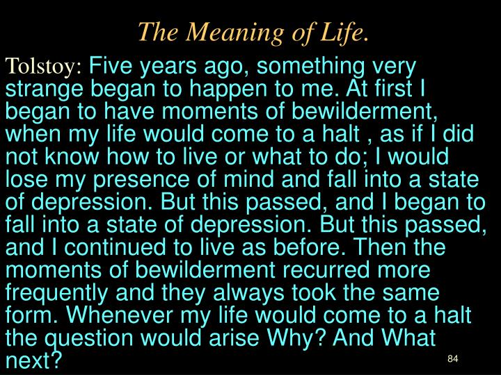 The Meaning of Life.
