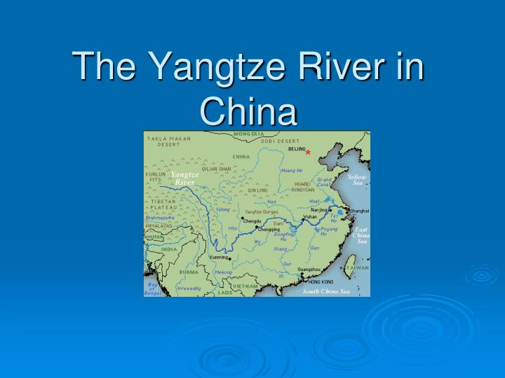 the yangtze river in china n.