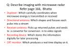 q describe imaging with microwave radar refer page 166 bhatta1