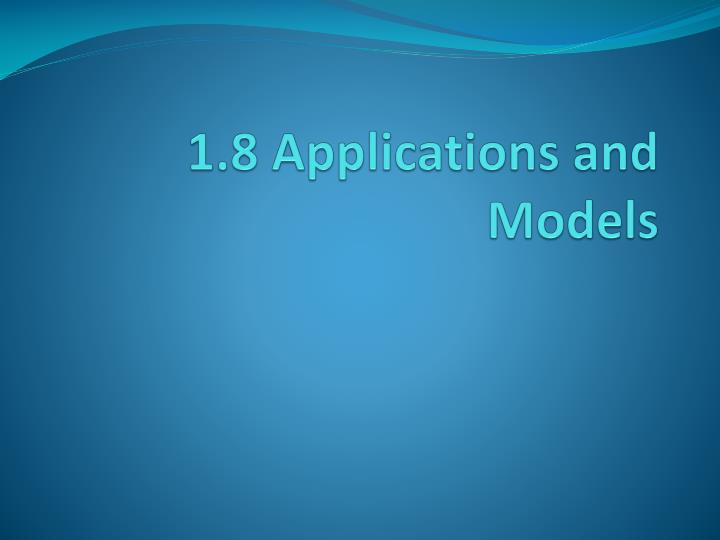 1 8 applications and models n.