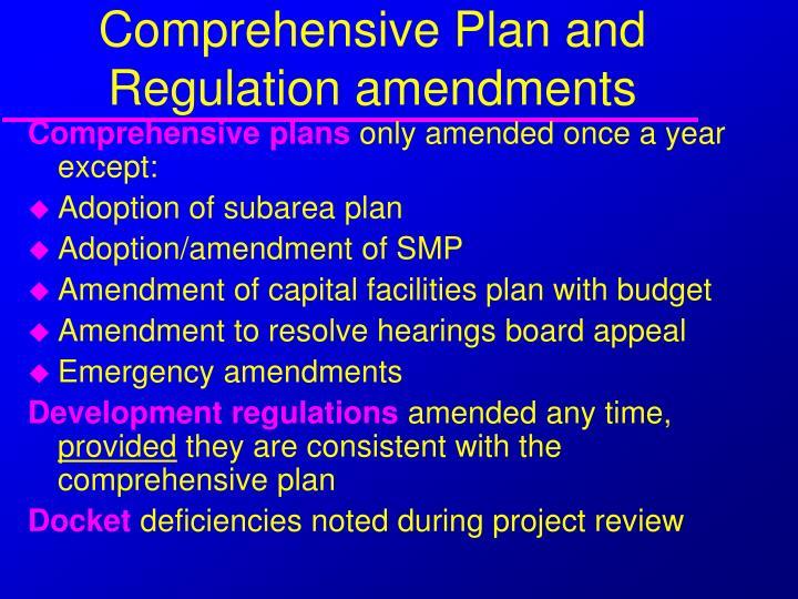 Comprehensive Plan and Regulation amendments