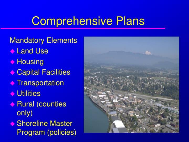 Comprehensive Plans