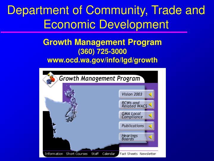 Department of Community, Trade and Economic Development