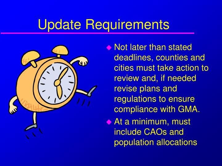 Update Requirements