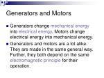 generators and motors1