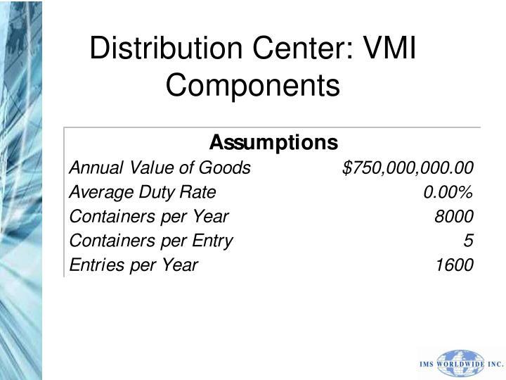 Distribution Center: VMI Components