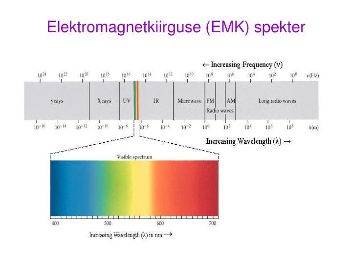 Elektromagnetkiirguse (EMK) spekter