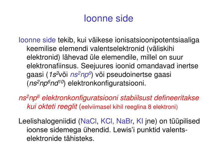 Ioonne side