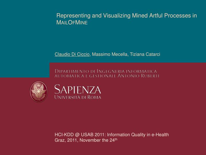representing and visualizing mined artful processes in mailofmine n.