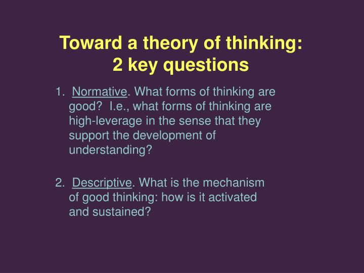 a commemorative essay on bion theory of thinking Objective theory and interpretive theory both contain six standards according to griffin 2007, standard 1 for an objective theory is the explanation standard 2 is the prediction of future events in objective theory a prediction is made as to what will happen humility of the theorist is also advisable.