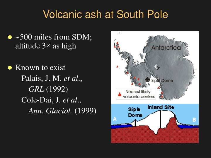Volcanic ash at South Pole