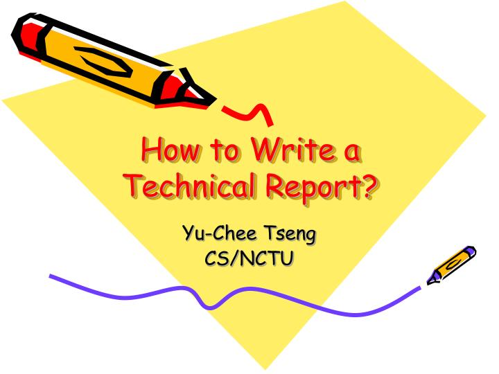 how to write technical reports