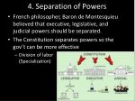 4 separation of powers