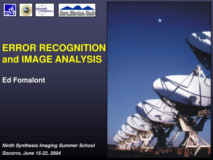 error recognition and image analysis n.