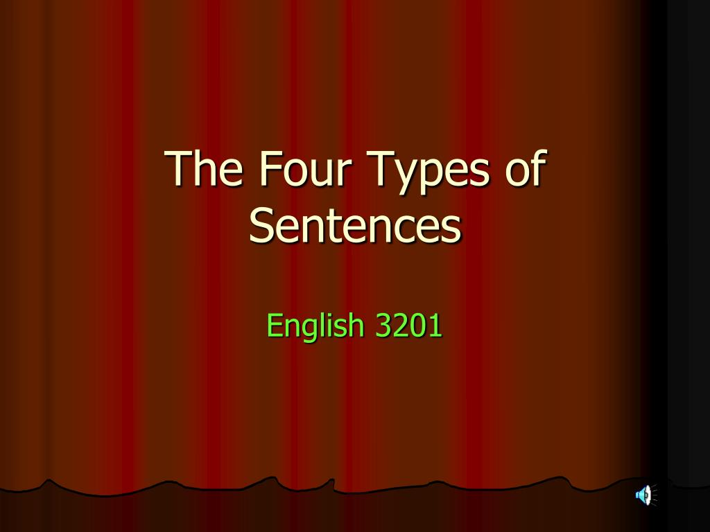 different types of sentences in english