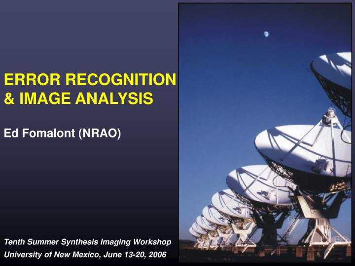 error recognition image analysis