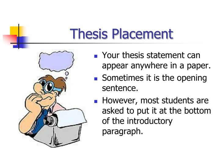 Thesis Placement