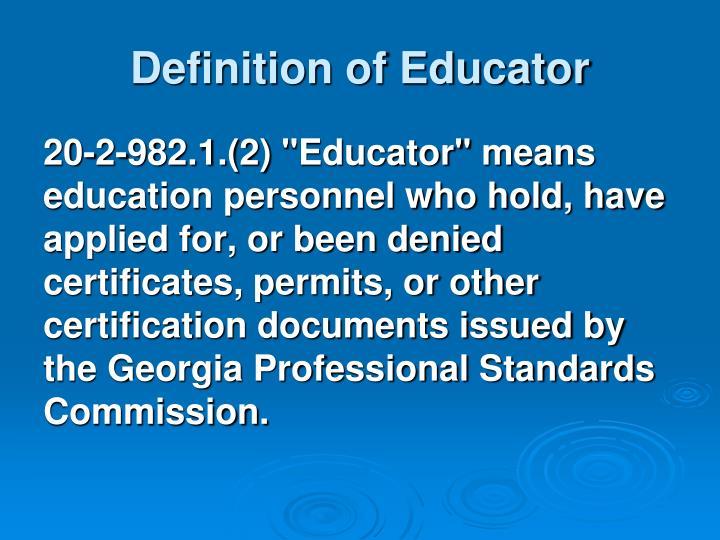 Definition of Educator