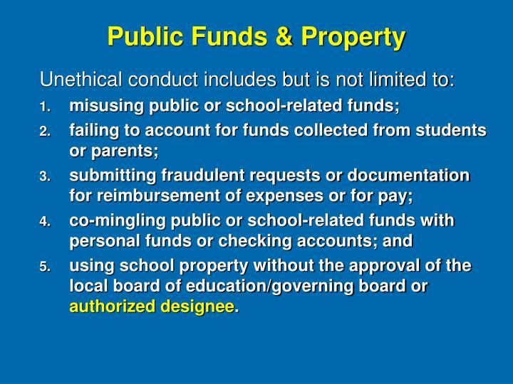 Public Funds & Property
