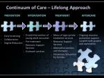 continuum of care lifelong approach