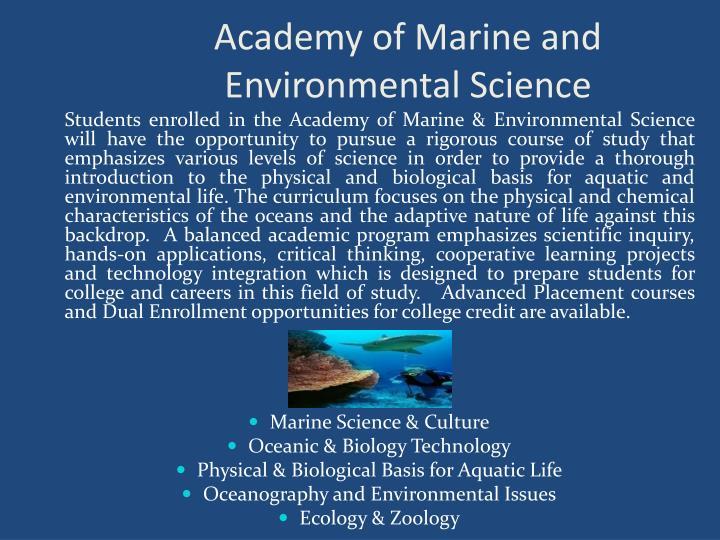 Academy of Marine and