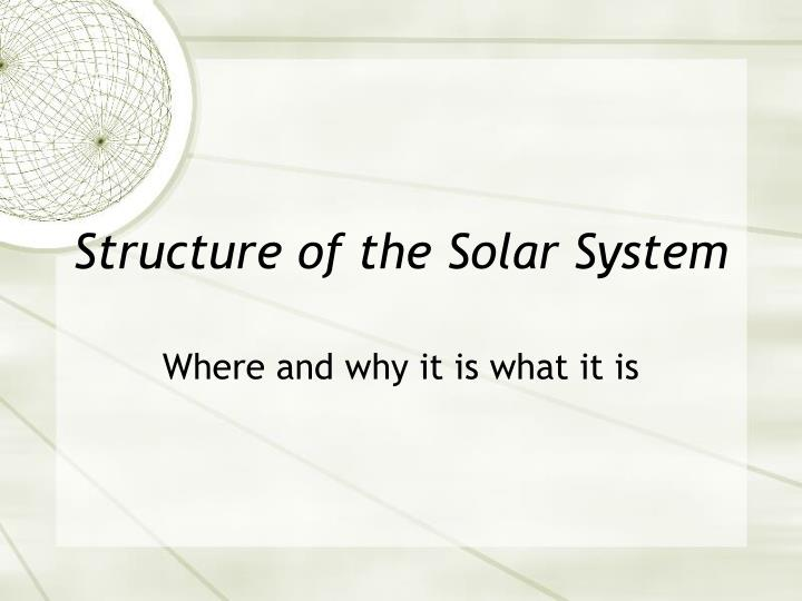 structure of the solar system n.