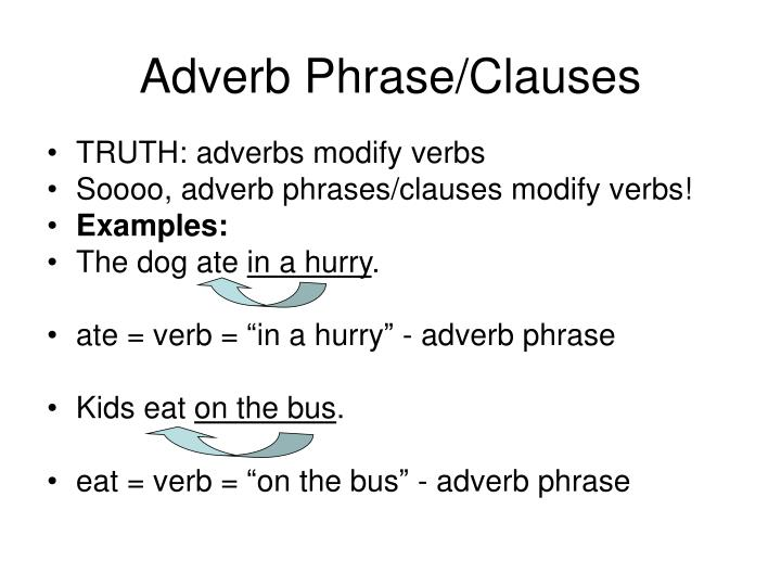 Ppt Adjective Phrases Vs Adverb Phrases Powerpoint Presentation