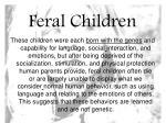 feral children