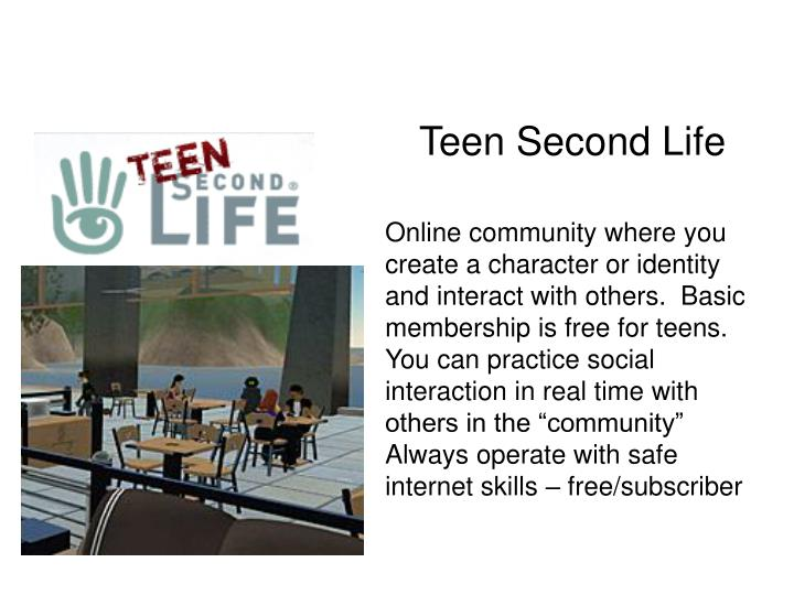 Teen Second Life