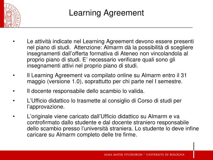 Learning Agreement