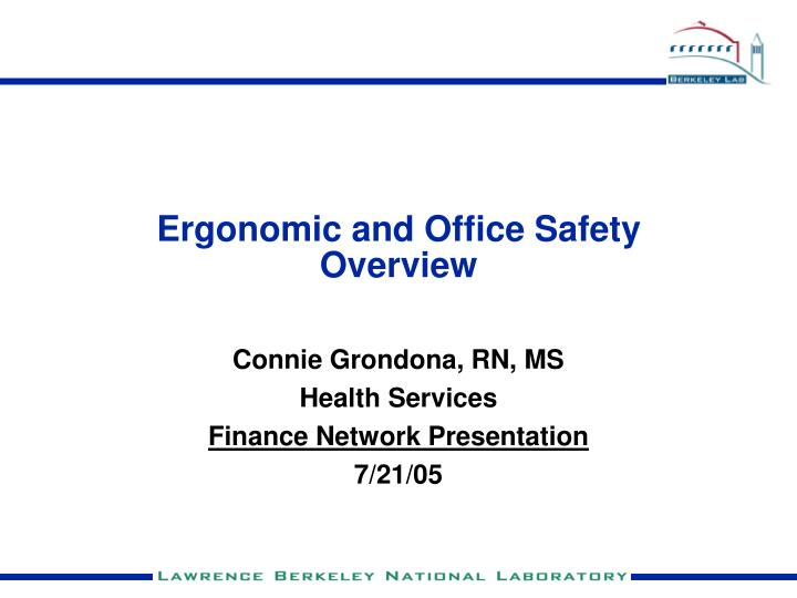 ergonomic and office safety overview n.
