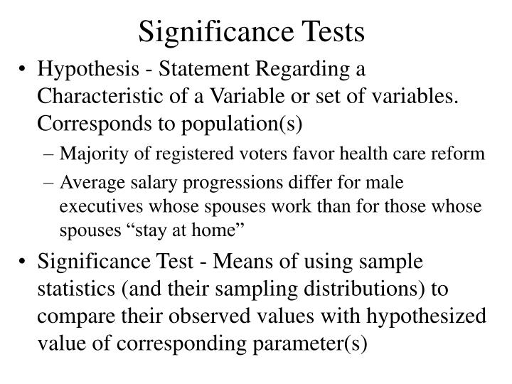 significance tests n.