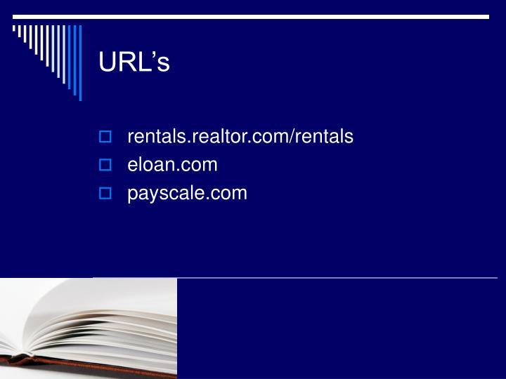 URL's
